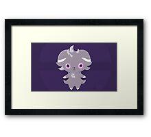 Pokemon Espurr Simplistic Framed Print