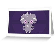 Pokemon Espurr Simplistic Greeting Card