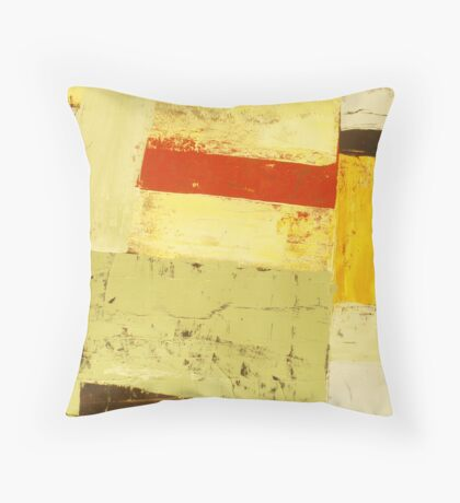 Forces 5- Original acrylic abstract painting on canvas  Throw Pillow