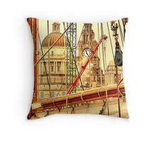 Maritime City Throw Pillow