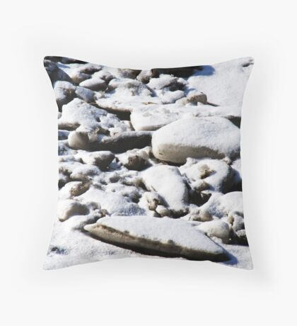 Bumps in the Snow Throw Pillow