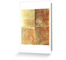 Speeches Oxide 2 - abstract painting on canvas Greeting Card