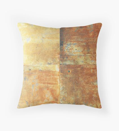 Speeches Oxide 2 - abstract painting on canvas Throw Pillow