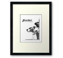 Besties. Framed Print
