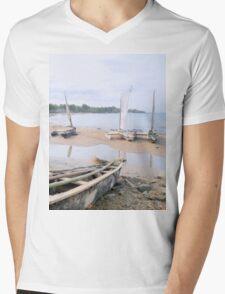 a desolate Sao Tome and Principe landscape Mens V-Neck T-Shirt