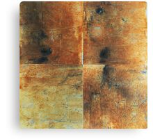 Speeches Oxide 1 - abstract painting on canvas Canvas Print