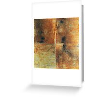 Speeches Oxide 1 - abstract painting on canvas Greeting Card