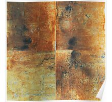 Speeches Oxide 1 - abstract painting on canvas Poster