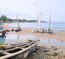 a desolate Sao Tome and Principe landscape by beautifulscenes