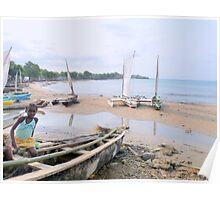 a desolate Sao Tome and Principe landscape Poster