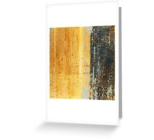 Venice Wall 1 - original acrylic abstract painting on panel Greeting Card
