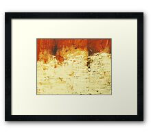 Venice Wall 2 - original acrylic abstract painting on panel Framed Print