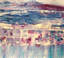 Waters 4 - original abstract acrylic painting on canvas by Marco Sivieri