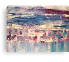 Waters 4 - original abstract acrylic painting on canvas Canvas Print