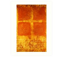 Cross Chant - original mixed-media painting on wood panel Art Print