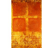 Cross Chant - original mixed-media painting on wood panel Photographic Print
