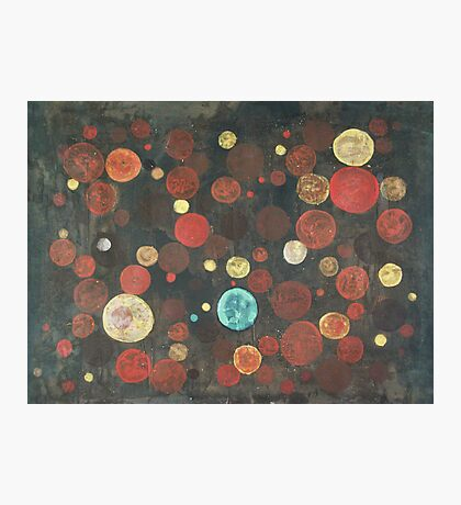 Autumn Thoughts Meeting - original abstract painting on canvas Photographic Print