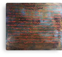 All the Time in the Word - original acrylic painting on wood panel Canvas Print