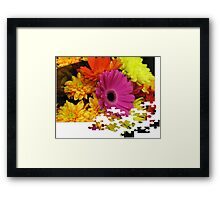 Flowers Puzzle Framed Print