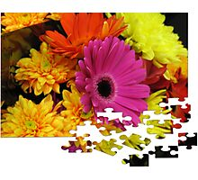 Flowers Puzzle Photographic Print