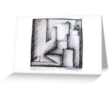 Scratched City Scape Greeting Card