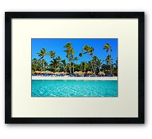 Postcard from Punta Cana, The Dominican Republic Framed Print