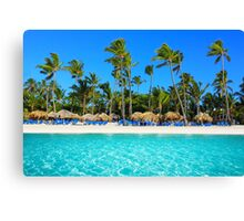 Postcard from Punta Cana, The Dominican Republic Canvas Print