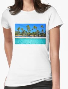 Postcard from Punta Cana, The Dominican Republic Womens Fitted T-Shirt