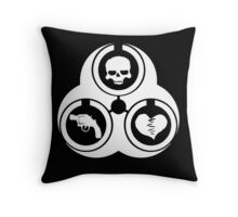 NYTR Biohazard in white Throw Pillow