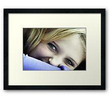 Hannah~Who else?!  Framed Print