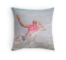Action'ed Dive Throw Pillow
