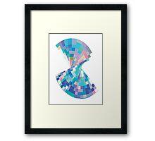 Twisted pixels Framed Print