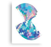 Twisted pixels Canvas Print