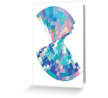 Twisted pixels Greeting Card