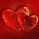 Two red hearts by Bruno Beach