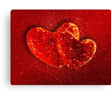 Two red hearts Canvas Print