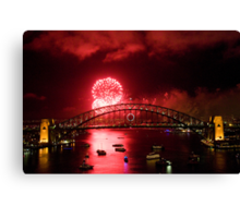 Red New Years Eve Sydney 2010 Canvas Print