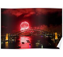 Red New Years Eve Sydney 2010 Poster