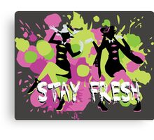 Splatfest Explosion Girls - Stay Fresh  Canvas Print