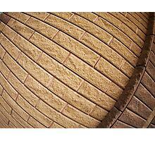 Fragment of decorative brickwork brown Photographic Print