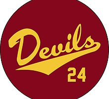 Retro Arizona State University Sun Devils Barry Bonds #24 by dswift