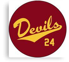 Retro Arizona State University Sun Devils Barry Bonds #24 Canvas Print