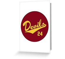 Retro Arizona State University Sun Devils Barry Bonds #24 Greeting Card