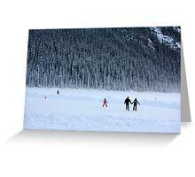 Skating on Lake Louise Greeting Card