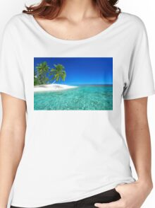 Postcard from the Anse Lazio beach - Praslin island, Seychelles Women's Relaxed Fit T-Shirt