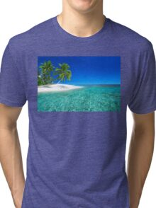 Postcard from the Anse Lazio beach - Praslin island, Seychelles Tri-blend T-Shirt