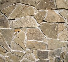 The texture of the walls of rough stones by vladromensky