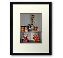 French Knitted Toys Framed Print