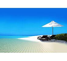 Postcard from Anse Lazio beach at Praslin island, Seychelles Photographic Print