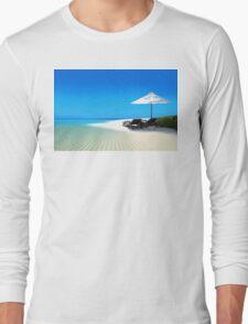Postcard from Anse Lazio beach at Praslin island, Seychelles Long Sleeve T-Shirt